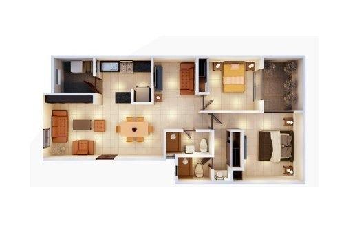¿ 83.89m² de construcción¿ 2 recámaras¿ 2 baños completos
