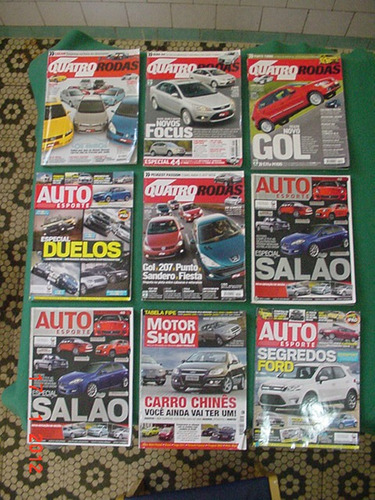 * 9 revistas de automóveis *