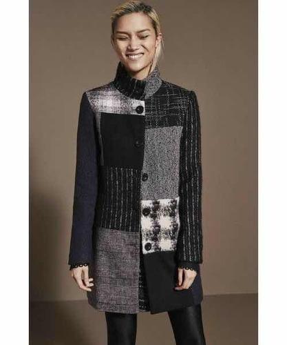 & abrigo desigual nuevo gris talla 40 envío gratis