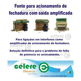 Acionador De Fechadura P/ Interfone Residencial Ou Coletivo