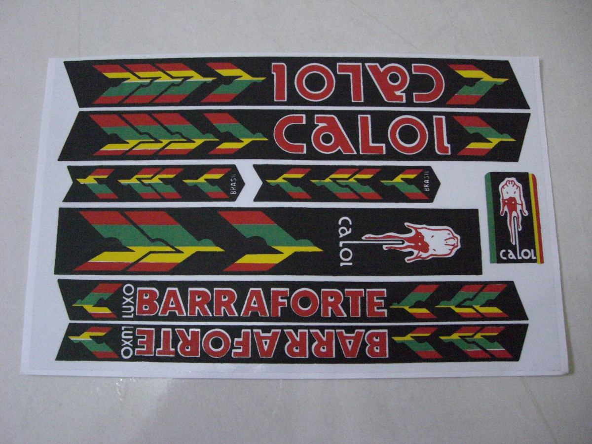 Adesivos Caloi Barra Forte Bicicletas Antigas R 29 00 Em