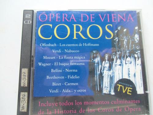 * album de 2 discos cd originales coros opera de viena