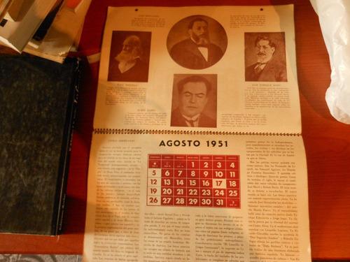 *  almanaque civil 1951 - hombres y hechos de america