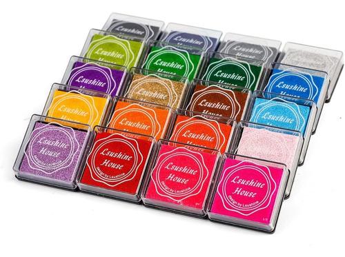 ¡ almohadilla para sellos tinta sello colores pequeño !