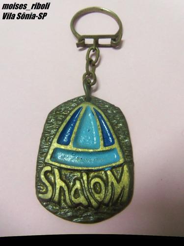 # antigo chaveiro shalom ítem de colecionador