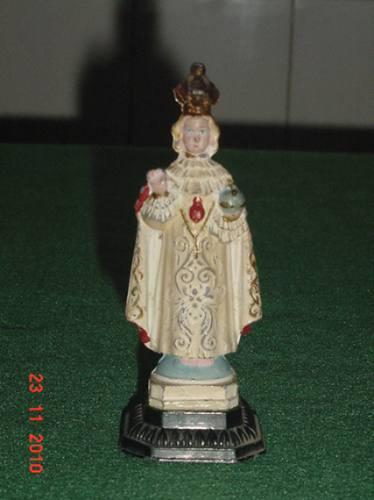 * antigo menino jesus de praga - altura: 11,5cm *