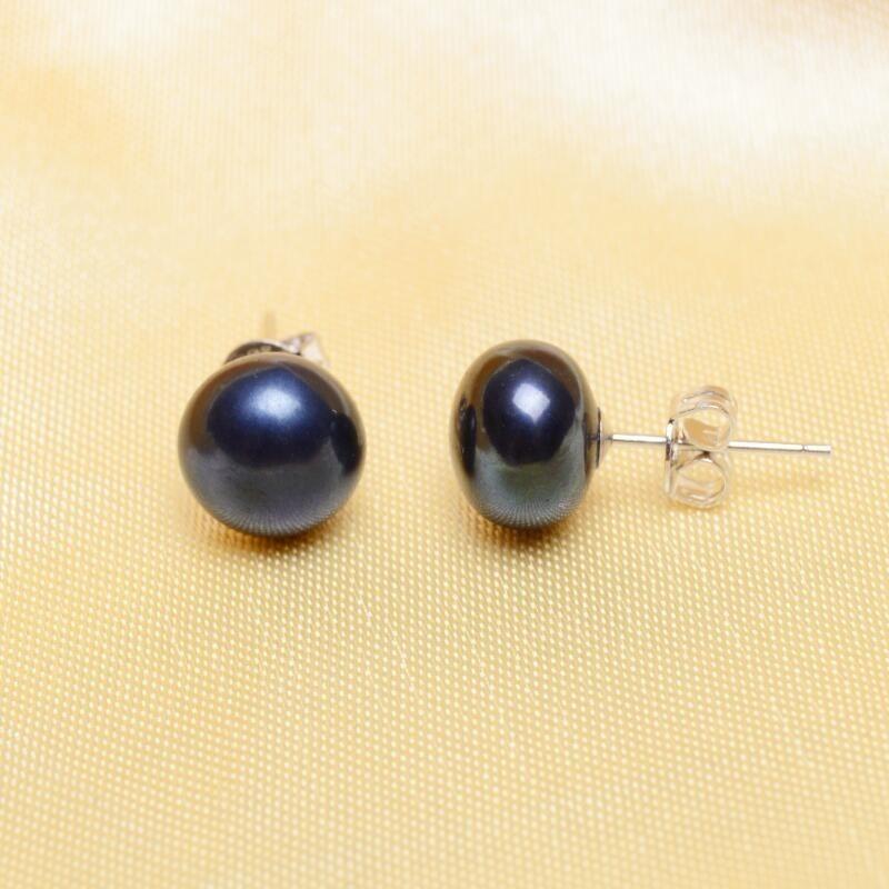 74fb22c3f28e Aretes Perlas Negras Naturales Cultivadas 7mm Reales ! -   60.000 en ...