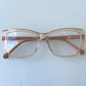 Armação De Óculos Para Grau Feminina Retangular/nude