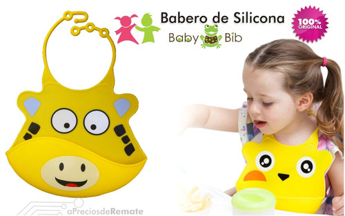 ¡ babero silicona baby bib divertido para bebé cocodrilo !!