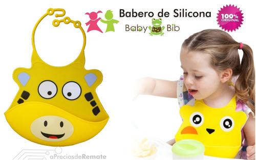 ¡ babero silicona baby bib divertido rinoceronte fucsia !!