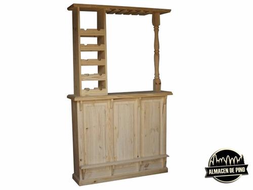 ! bar barra 140 cm almacén de pino bodega copero gran oferta
