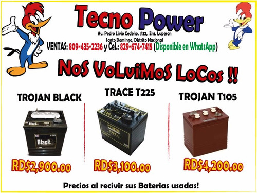 ** baterias e inversores ** (trojan / trace / tranic ) desde