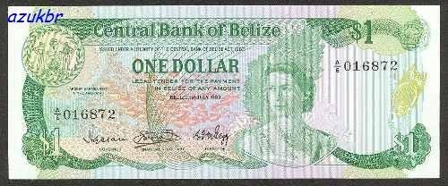 * belize - 1 dollar 1983 - p.43 - fe *