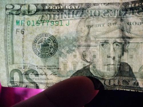 ¿ billete de 20 dólares , con error de impresión...