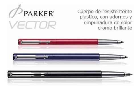 °°° bolígrafo roller parker vector / silver / original! °°°