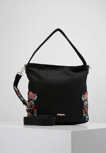 & bolso cartera negra desigual yakarta bordada con envío