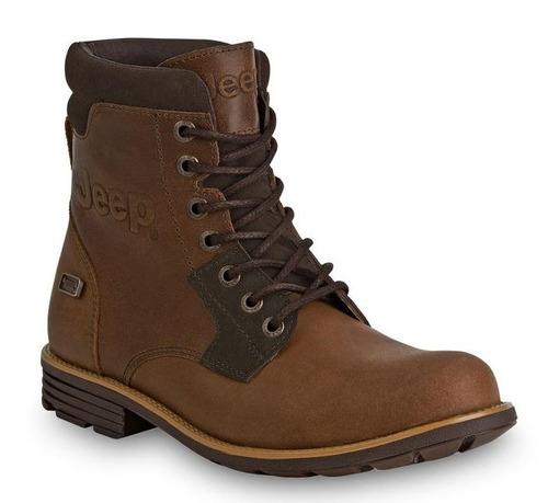 - botas jeep scrambler 10953 de piel café 2442808