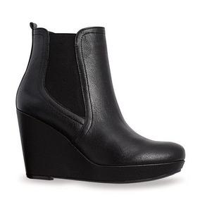 4f8c7c35 Botines Senties Negro Elastico Plataforma - Zapatos de Mujer en Mercado  Libre México