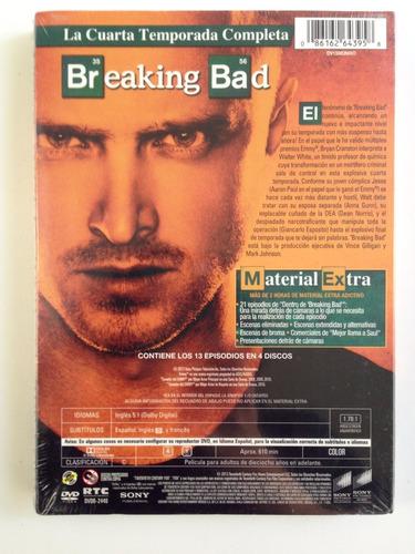 + Breaking Bad Cuarta Temporada Dvd Nueva +