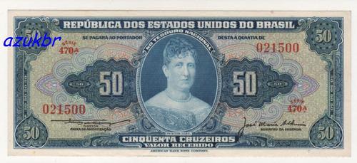* c025 50 cruz. lemos/alkimim ultima serie 1956 c-025 s/fe *