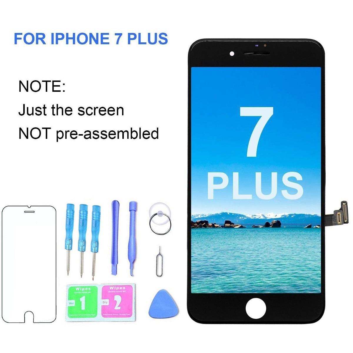 9497edc0467 ( calidad oem ) reemplazo pantalla iphone 7 más negro 5.5 p. Cargando zoom.