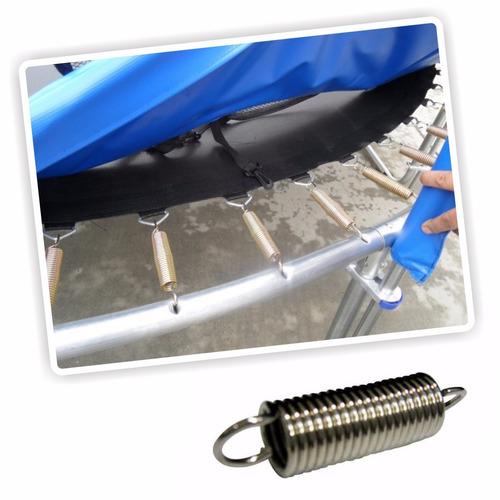 ¡ cama elástica 8ft 2.44x2.20 mt malla protección+escalera !