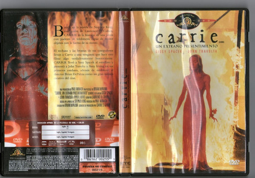 .: carrie: un extraño presentimiento :. dvd seminuevo !!!