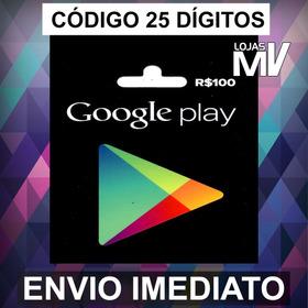 Cartão Presente Google Play 100 Reais Gift Card