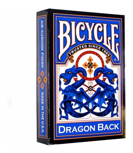 ¡ cartas bicycle dragon back azul play card baraja poker !!