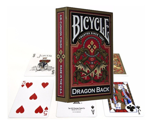¡ cartas bicycle dragon gold playing card baraja de poker !!
