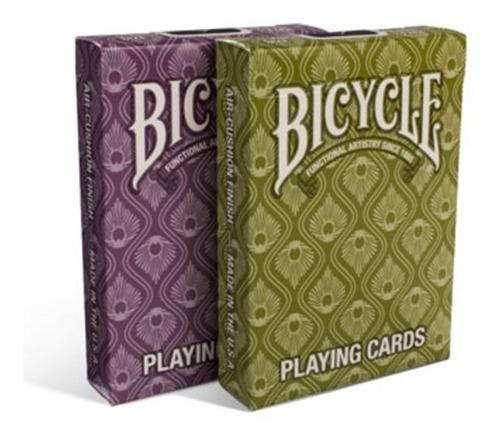 ¡ cartas bicycle peacock violeta pavo real baraja poker !!