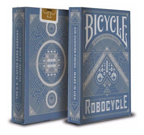 ¡ cartas bicycle robocycle blue playing card baraja poker !!