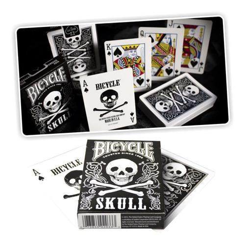 ¡ cartas bicycle skull baraja poker original calavera !!