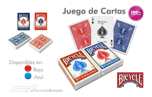 ¡ cartas bicycle stándar baraja poker original importado !!