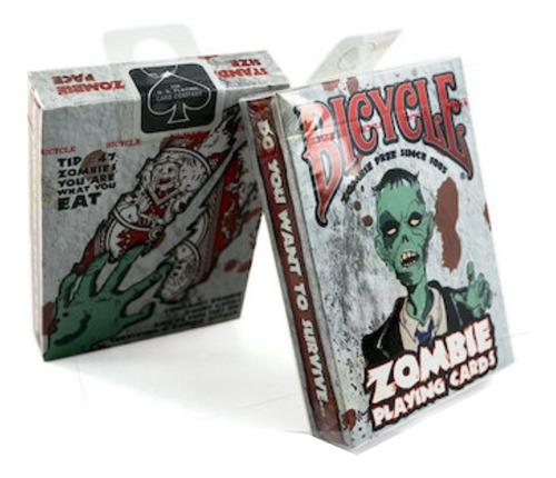 ¡ cartas bicycle zombie baraja poker original black jack !!