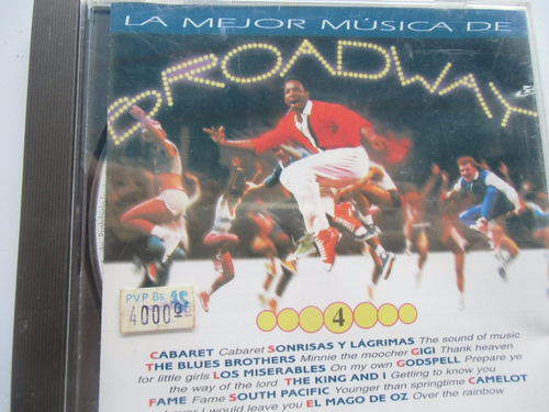 + cd la mejor música de broadway 4 original importado