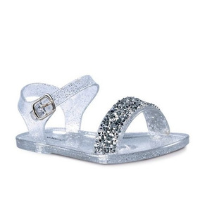 d4ff6fc6 Hermosas Sandalias Plateadas De Disenador - Zapatos para Niñas en Mercado  Libre México