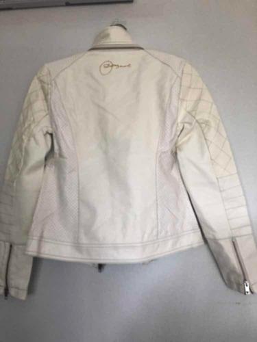 & chaqueta blanca desigual biker nueva 38 con envío
