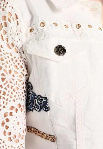 & chaqueta denim blanco 40 desigual nueva con envío