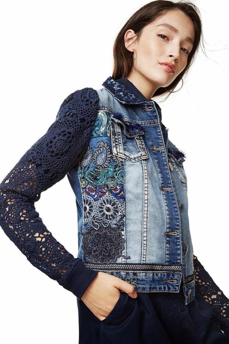 feeb77cefdd   Chaqueta Jeans Desigual Nueva 38 Con Envío -   72.000 en Mercado Libre