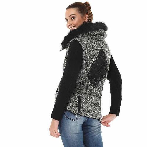 & chaqueta parka desigual gris nueva 38 con envío