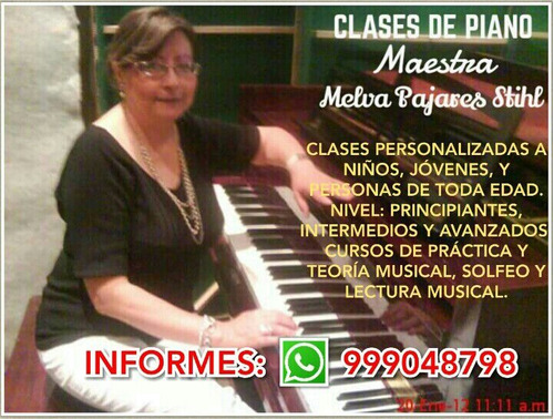 ** clases de piano virtual **