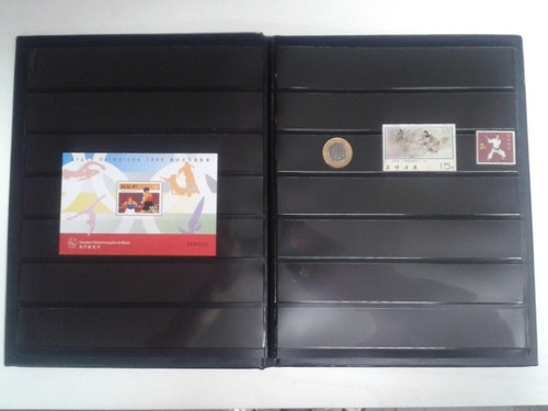 # classificador p/ selos 20 pag. c/ estojo album para selos