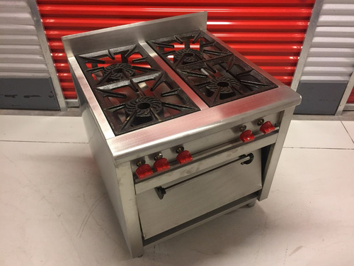 * cocina biggi industrial de muro 4 quemadores con horno *