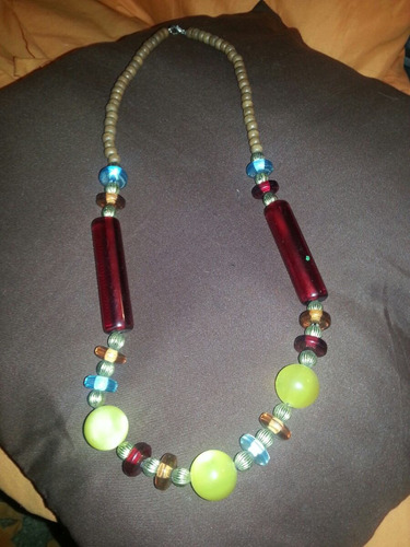 * collar vintage cristales y madera elegancia/distinción. *