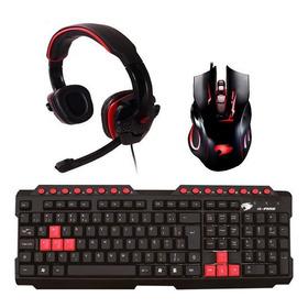 Combo Gamer  Fone Headset + Teclado + Mouse Óptico P Jogos