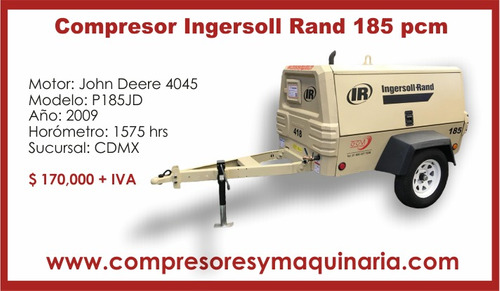 +compresor neumatico ingersoll rand p185jd 2009 rotativo