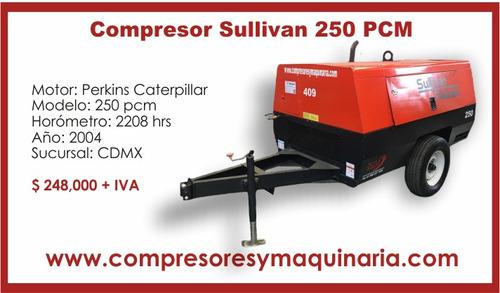 +compresor neumatico sullivan 250-pcm 2004 rotativo