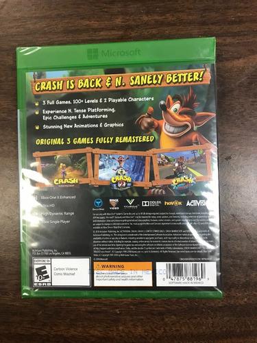 ..:: crash bandicoot n sane trilogy ::.. para xbox one en gw