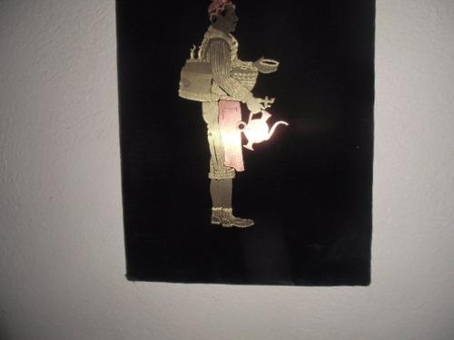 * cuadro en lámina de bronce repujado líbano arte lujoso